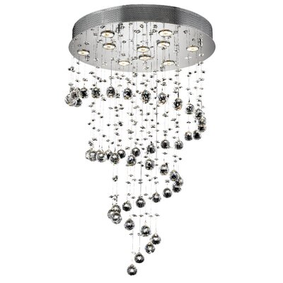 Galaxy 10-Light 24 Semi Flush Mount Crystal Grade: Royal Cut