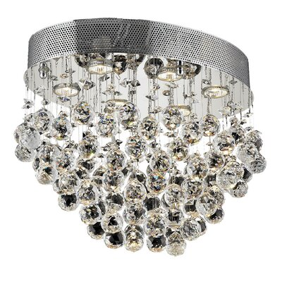 Galaxy 6-Light Semi Flush Mount Crystal Grade: Elegant Cut