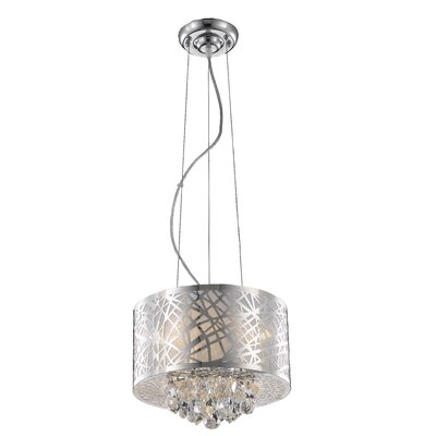 Athema 3-Light Drum Chandelier Size: 10 H x 14 W x 14 D