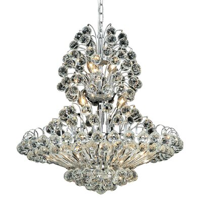 Maud 14-Light Crystal Chandelier Finish: Chrome, Crystal Grade: Elegant-Cut