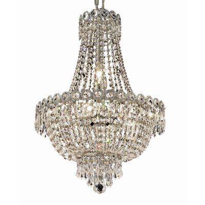 Century 8-Light Empire Chandelier Finish: Chrome, Crystal Trim: Elegant Cut