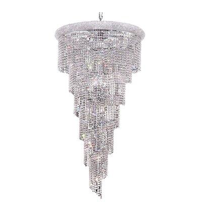 Spiral 22 Light Crystal Pendant 1801SR30C/SA