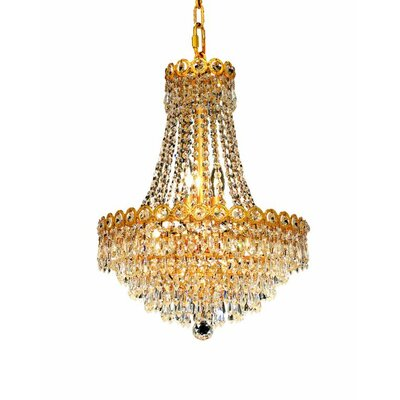 Century 8-Light Empire Chandelier Finish: Chrome, Crystal Trim: Royal Cut