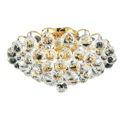 Godiva 4-Light 14 Semi Flush Mount Finish: Gold, Crystal Grade: Spectra Swarovski