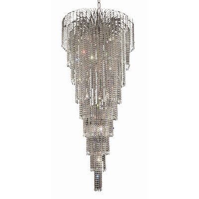 Westrem 15-Light Crystal Chandelier Finish: Chrome, Crystal Trim: Chrome / Elegant Cut