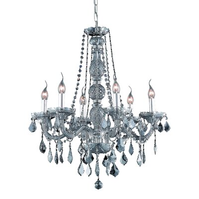 Petties 6-Light Crystal Chandelier Finish: Silver, Crystal Grade: Swarovski Strass
