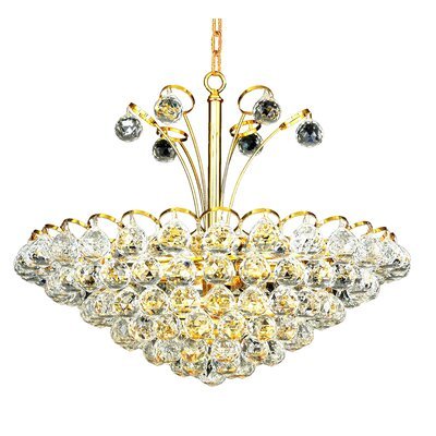 Ranee 8-Light Crystal Chandelier Finish: Chrome, Crystal Trim: Elegant Cut