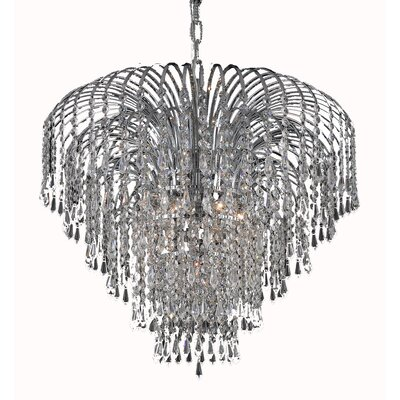 Westrem 6-Light Crystal Chandelier Finish: Chrome, Crystal Grade: Elegant-Cut