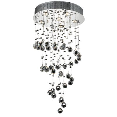 Deidamia 6-Light Chain Crystal Chandelier Crystal Trim: Royal Cut