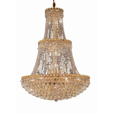 Lorna 17-Light Crystal Chandelier Finish: Gold, Crystal Trim: Spectra Swarovski