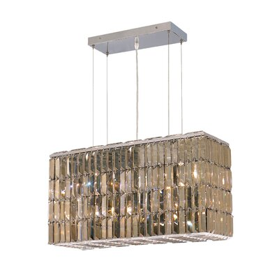 Langer 8-Light Kitchen Island Pendant Finish: Golden Teak, Crystal: Egyptian