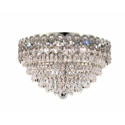 Lorna 4-Light 16 Flush Mount Finish: Chrome, Crystal Grade: Strass Swarovski