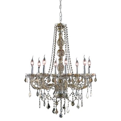 Petties 8-Light Crystal Chandelier Color: Golden Teak, Crystal Grade: Swarovski Strass