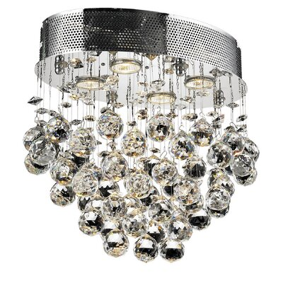 Deidamia 4-Light Semi Flush Mount Crystal Grade: Spectra Swarovski
