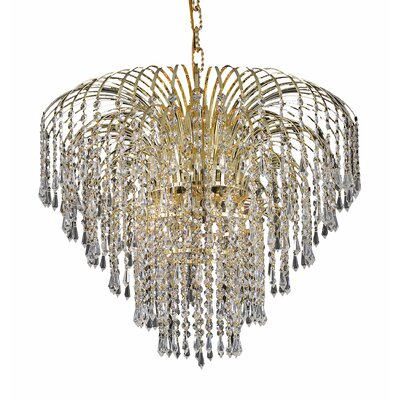 Westrem 6-Light Crystal Chandelier Finish: Gold, Crystal Grade: Elegant-Cut
