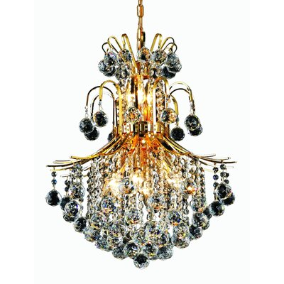 Toureg 11-Light Crystal Chandelier Finish: Gold, Crystal Trim: Royal Cut
