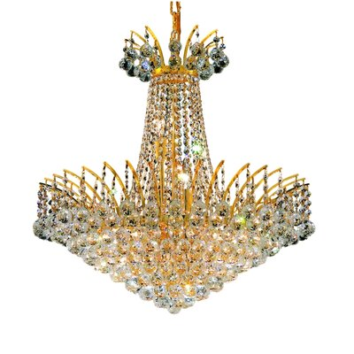 Phyllida 11-Light Crystal Empire Chandelier Finish: Gold, Crystal Trim: Spectra Swarovski