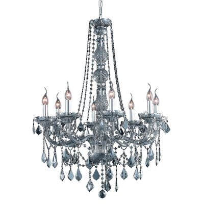 Petties 8-Light Crystal Chandelier Color: Silver, Crystal Grade: Swarovski Strass