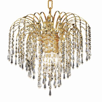 Westrem 3-Light Crystal Chandelier Finish: Gold, Crystal Grade: Elegant-Cut