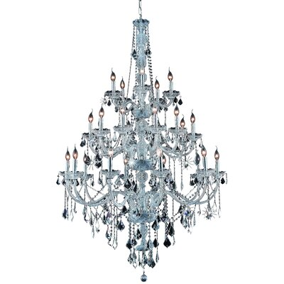 Petties 25-Light Crystal Chandelier Finish: Chrome, Crystal Grade: Elegant-Cut