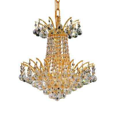 Phyllida 4-Light Chain Empire Chandelier Finish: Chrome, Crystal Trim: Elegant Cut