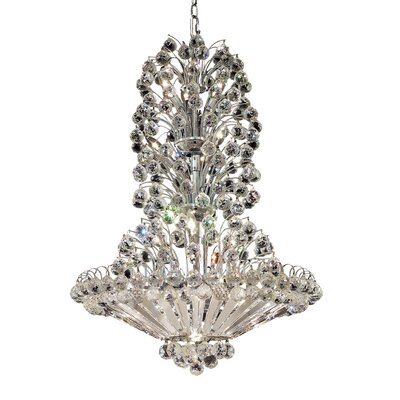 Maud 22-Light Crystal Chandelier Finish: Chrome, Crystal Grade: Swarovski Strass
