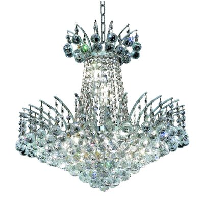 Phyllida 8-Light Chain Empire Chandelier Finish: Chrome, Crystal Trim: Royal Cut