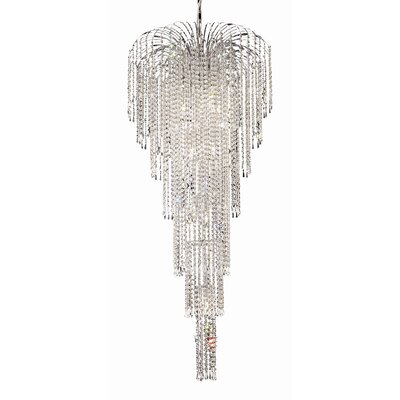 Westrem 11-Light Crystal Chandelier Finish: Chrome, Crystal Grade: Elegant-Cut