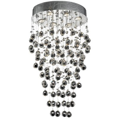 Galaxy 6-Light 20 Semi Flush Mount Crystal Grade: Strass Swarovski