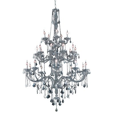Petties 25-Light Crystal Chandelier Color: Sliver, Crystal Grade: Egyptian