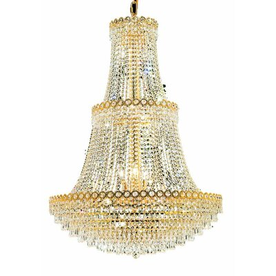 Lorna 17-Light Empire Chandelier Finish: Gold, Crystal Trim: Elegant Cut
