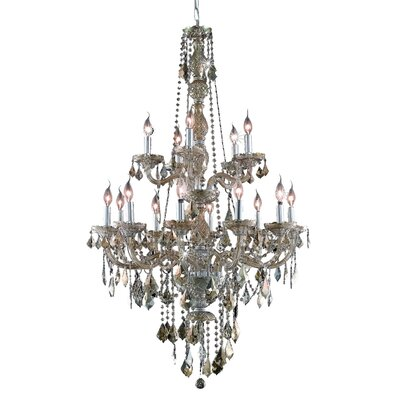 Petties 15-Light Crystal Chandelier Color: Golden Teak, Crystal Grade: Egyptian