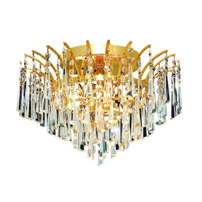 Phyllida 6-Light 10 Semi Flush Mount Finish: Chrome, Crystal Grade: Elegant Cut