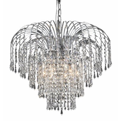 Westrem 6-Light Crystal Chandelier Finish: Chrome, Crystal Grade: Swarovski Spectra