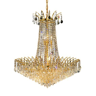 Phyllida 16-Light Empire Chandelier Finish: Gold, Crystal Trim: Royal Cut