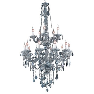 Petties 15-Light Crystal Chandelier Finish: Sliver, Crystal Grade: Swarovski Strass