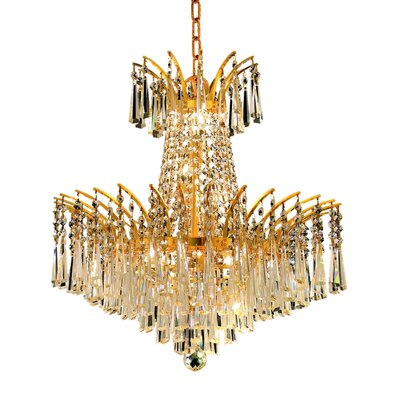 Phyllida 8-Light Crystal Empire Chandelier Finish: Gold, Crystal Trim: Royal Cut