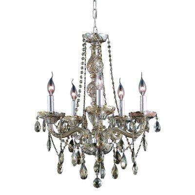 Verona  5 Light Chandelier Finish / Crystal Color / Crystal Trim: Golden Teak / Golden Teak (Smoky) / Royal Cut