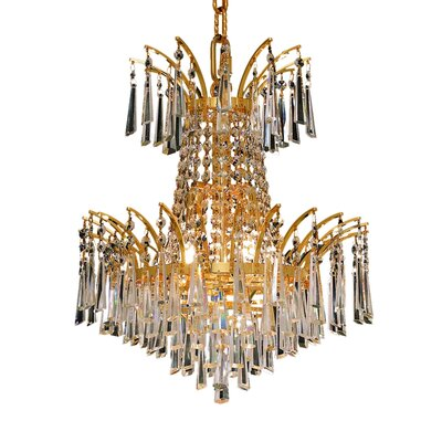 Victoria 4-Light Empire Chandelier Finish: Chrome, Crystal Trim: Royal Cut