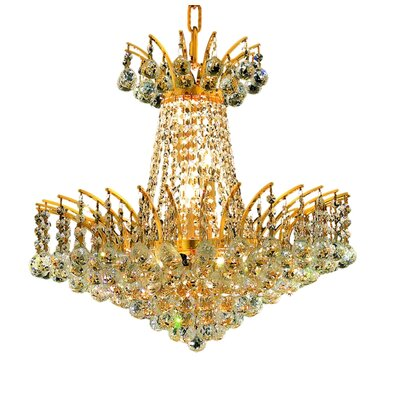 Phyllida 8-Light Chain Empire Chandelier Finish: Chrome, Crystal Trim: Elegant Cut