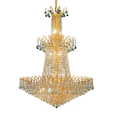 Phyllida 18-Light Crystal Chandelier Finish: Chrome, Crystal Trim: Strass Swarovski