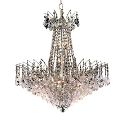 Phyllida 11-Light Empire Chandelier Finish: Chrome, Crystal Trim: Royal Cut