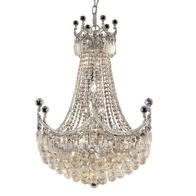 Kasha 18-Light Empire Chandelier Finish: Chrome, Crystal Trim: Royal Cut