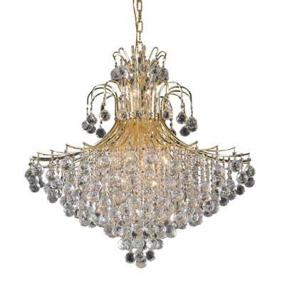 McAllen 15-Light Crystal Chandelier Finish: Gold, Crystal Trim: Strass Swarovski