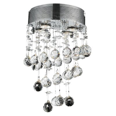 Deidamia 2-Light LED Wall Sconce Crystal Trim: Royal Cut