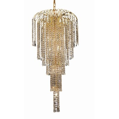 Westrem Glam 9-Light Crystal Chandelier Finish: Gold, Crystal Trim: Chrome / Royal Cut