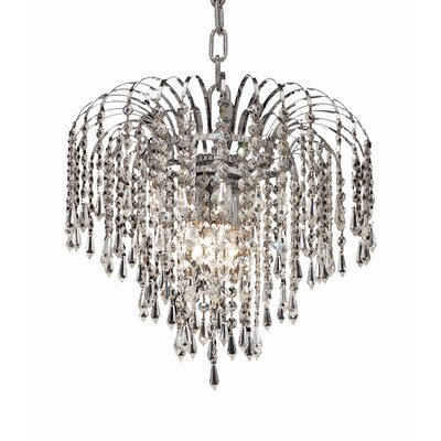 Westrem 3-Light Crystal Chandelier Finish: Chrome, Crystal Grade: Elegant-Cut