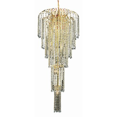 Westrem 9-Light Crystal Chandelier Finish: Gold, Crystal Trim: Chrome / Spectra Swarovski