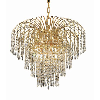 Westrem 6-Light Chain Crystal Chandelier Finish: Gold, Crystal Trim: Chrome / Elegant Cut