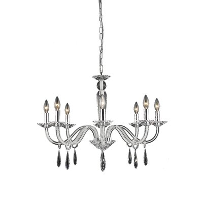 Halton 8-Light Candle-Style Chandelier Finish: Black, Crystal Trim: Strass Swarovski